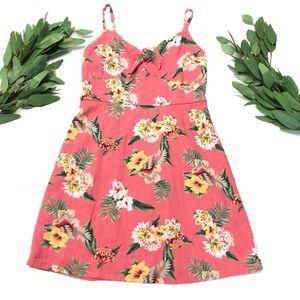 🌿Hollister || Hawaiian Spaghetti Strap Mini Dress